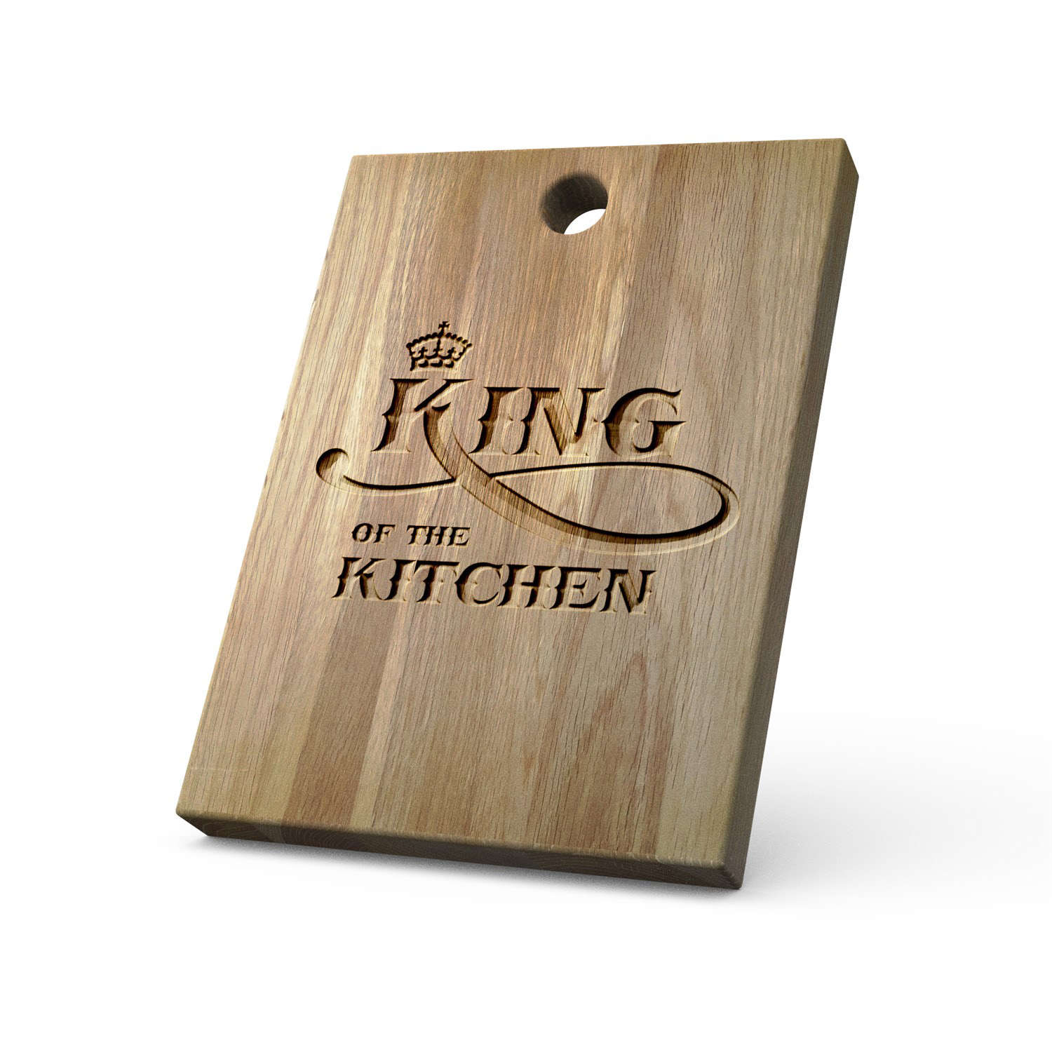 Personalised Solid Oak Chopping Board King Of The Kitchen The Kitchenware Company